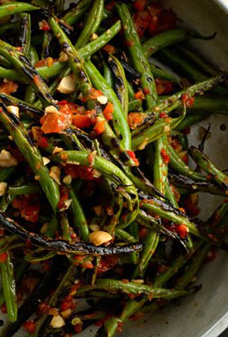 charred-green-beans-with-harissa-and-almonds-646